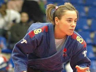 La judoka Laura Gómez, durante una competición