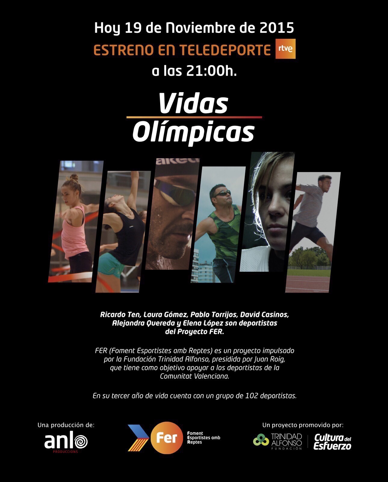 DOCUMENTAL VIDAS OLIMPICAS