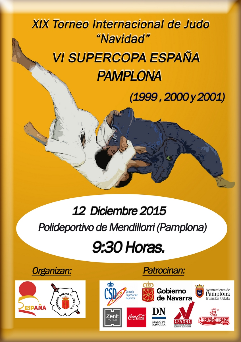 Cartel_W Torneo Navidad - Copa Espana Cadete Pamplona 12-12-15