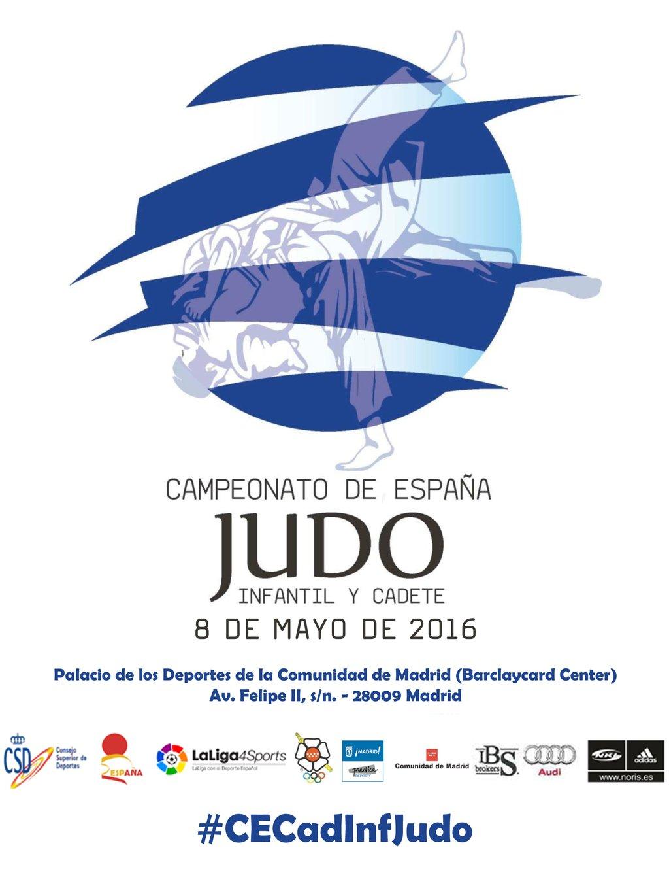 Cartel Cpto Espana Infantil y Cadete 08-05-16