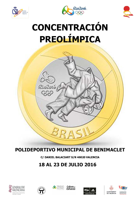 CARTEL CONCENTRACION PREOLIMPICA  2016