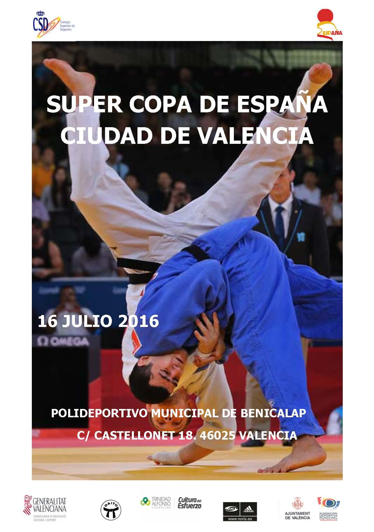 CARTEL SUPER COPA DE ESPAÑA CIUDAD DE VALENCIA 2016