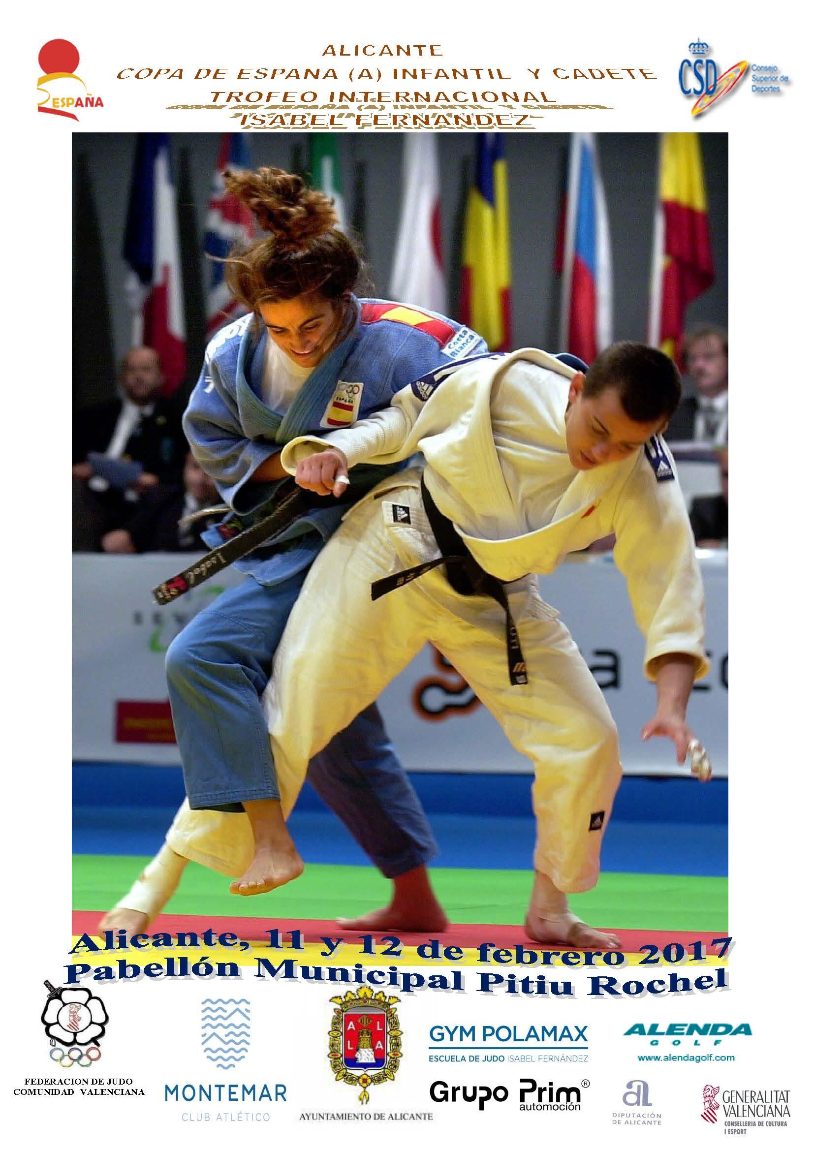 Cartel Copa Espana Infantil y Cadete Alicante 11-02-17