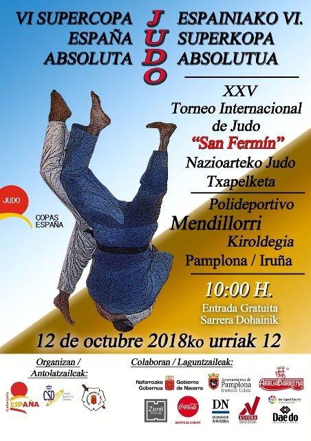 Cartel-w VI Supercopa Espana Absoluto Pamplona 20-10-18